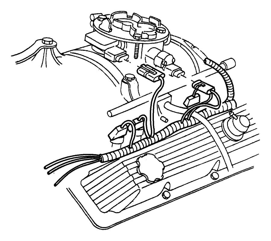 Dodge Dakota Wiring. Engine. California emission