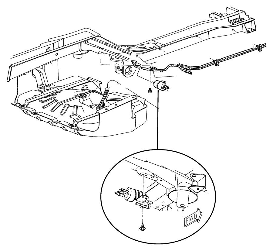 1998 Chrysler Sebring Filter and regulator. Fuel