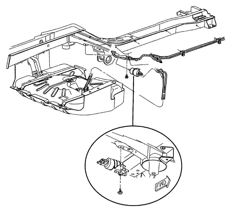 1998 Chrysler Sebring Filter. Fuel. Lines, rear, eva, erh