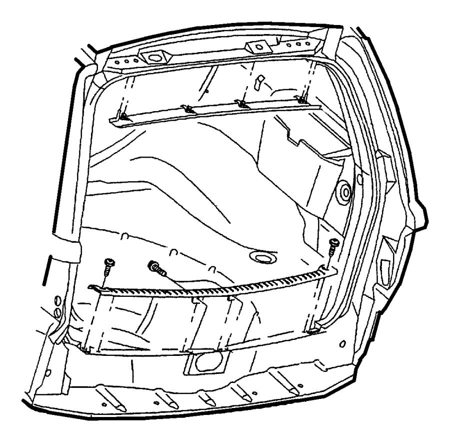 2001 Jeep Grand Cherokee Panel. Liftgate. Upper. [az, a2
