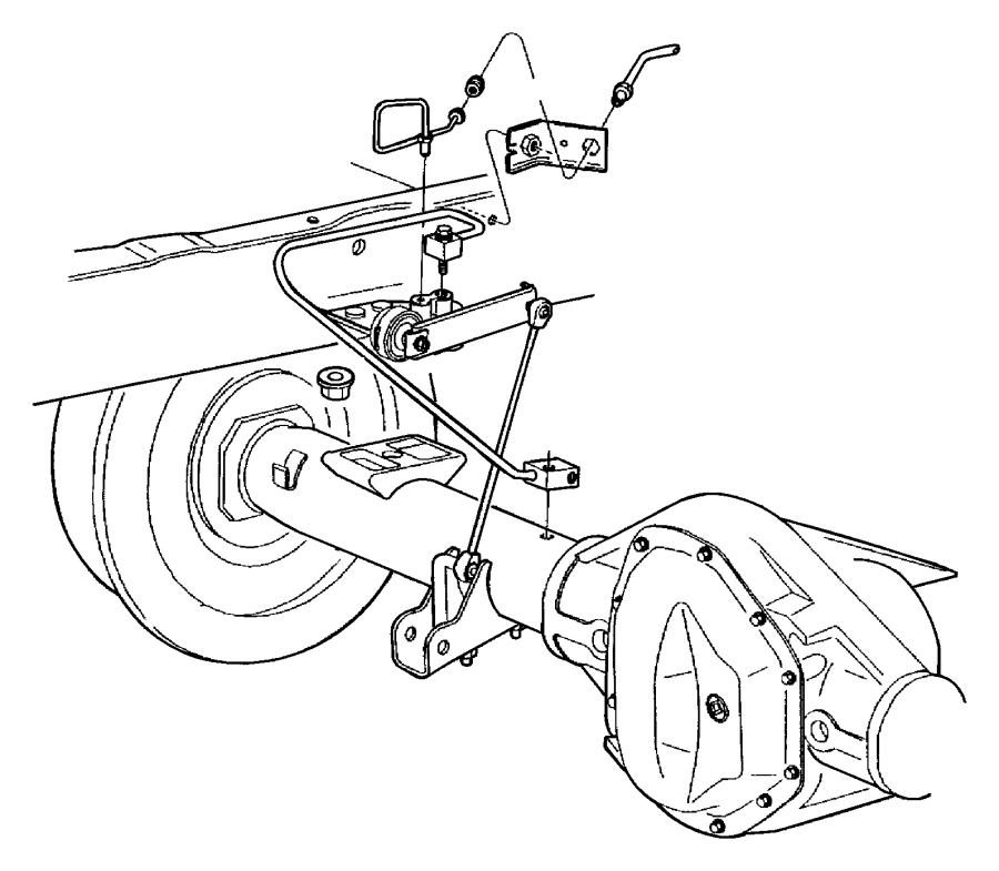 2000 Dodge Ram 1500 Tube. Brake. Rear, hose, junction