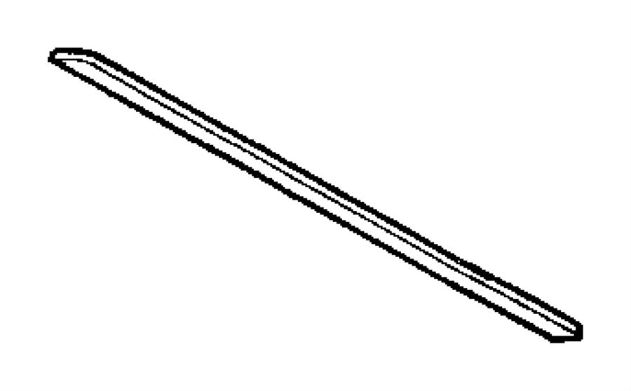 1997 Jeep Wrangler Weatherstrip. Backlite. [deep tint