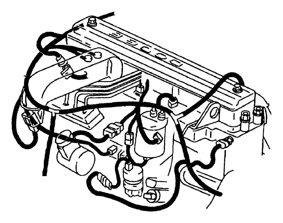 2001 Dodge Ram 3500 Wiring. Engine. California emission