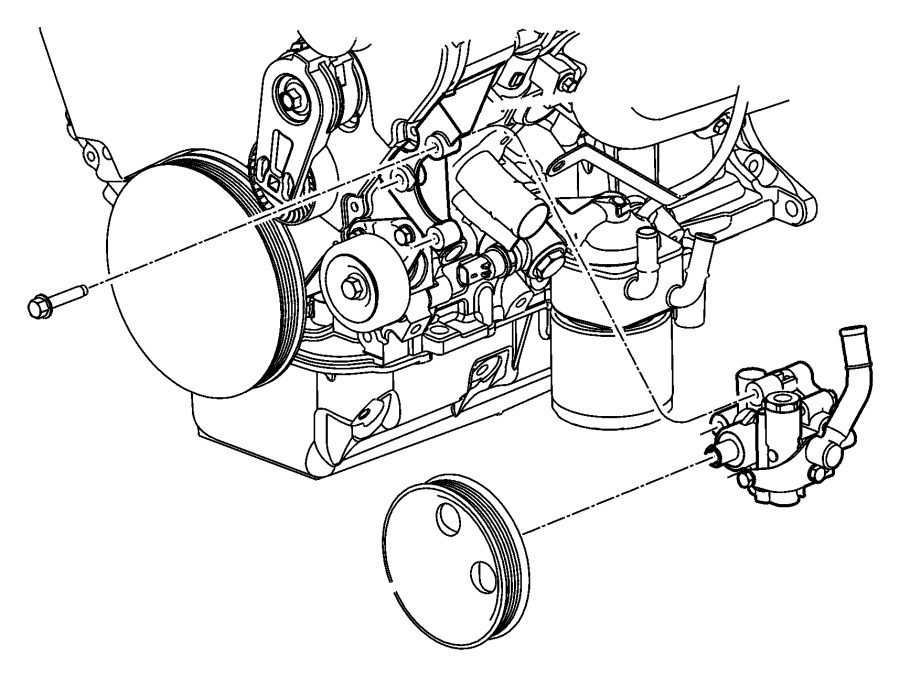 2002 Dodge Grand Caravan Pump. Power steering