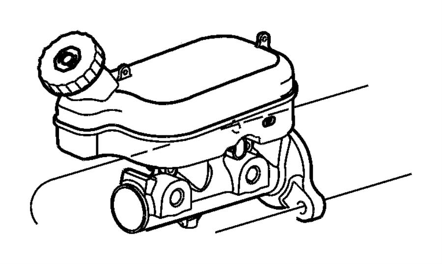 2001 Chrysler Voyager Master cylinder. Brake. Brakes, disc