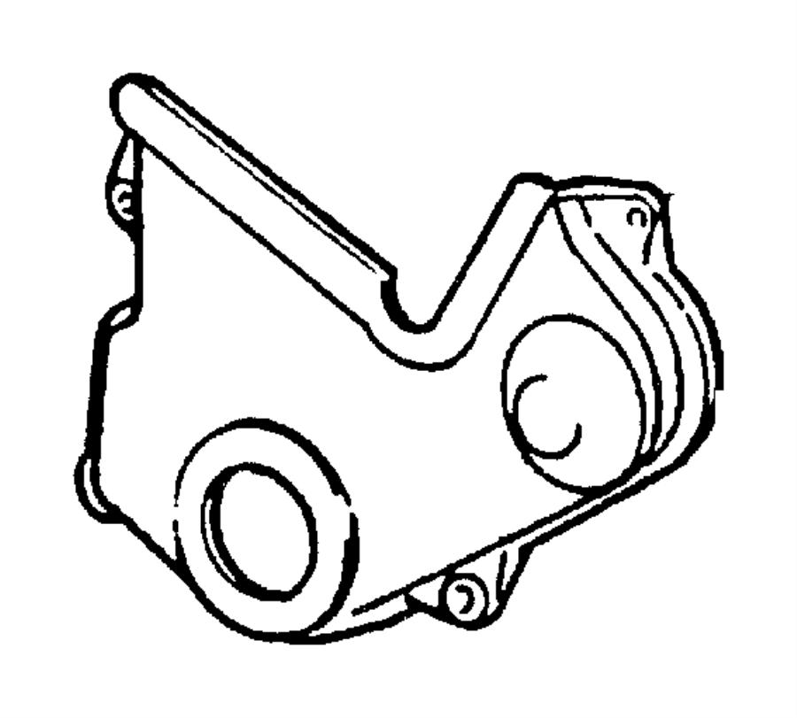 Chrysler PT Cruiser Cover. Timing belt. Outer lower