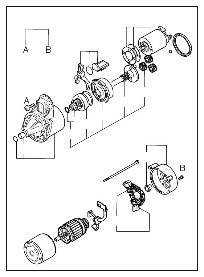Chrysler Sebring Holder. Starter brush. Manual trans