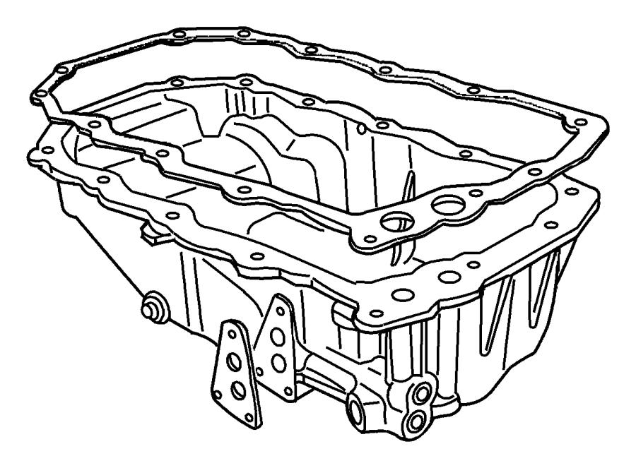 Chrysler Voyager Gasket. Oil pan. Engine, tracking
