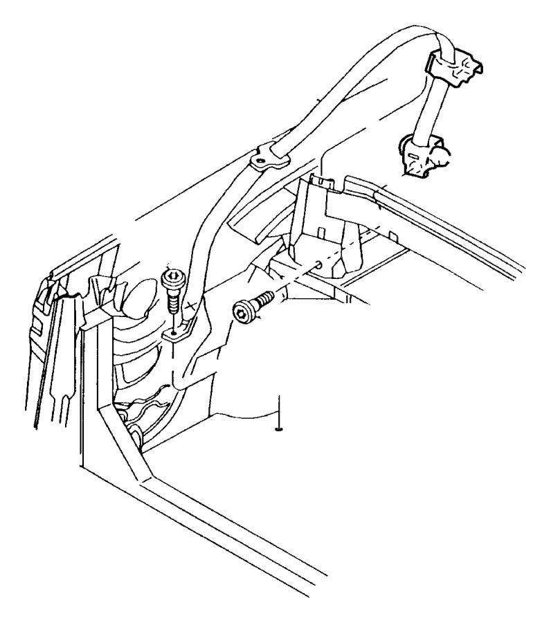 2001 Chrysler Sebring Seat belt. Rear outer. Left. [l5