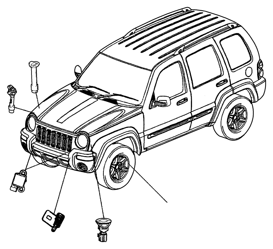 2003 Jeep Liberty Sensor. Air bag. Bags, next, multistage
