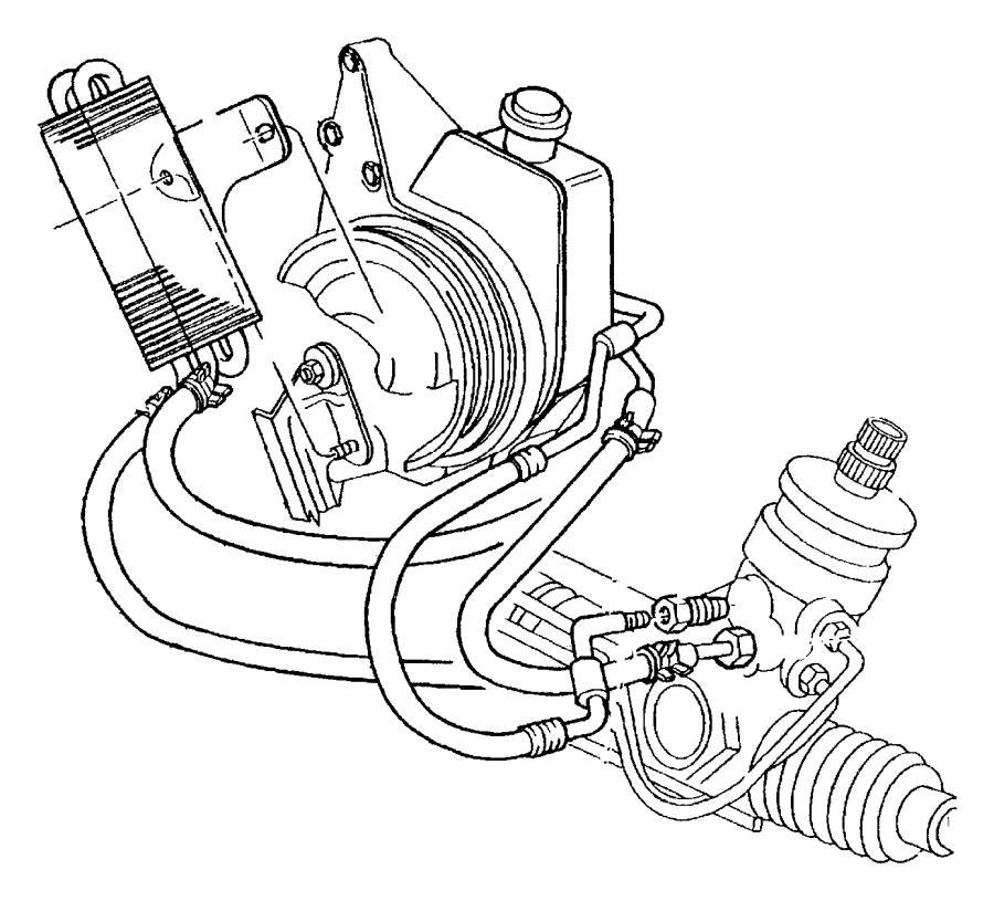 2001 Dodge Dakota Hose. Power steering return. Nhf