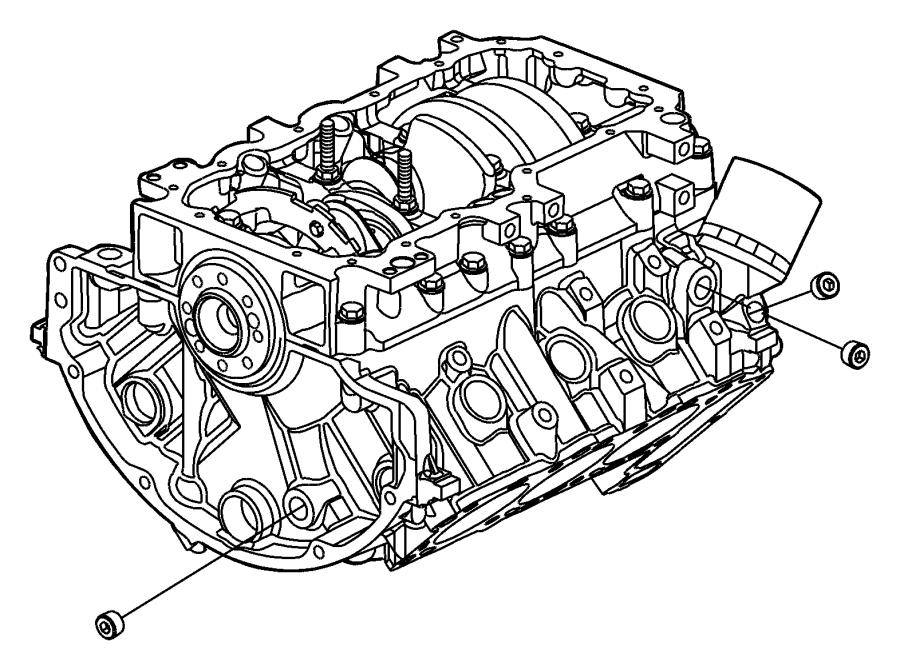 2009 Chrysler Aspen Block. Short. Engine, torque