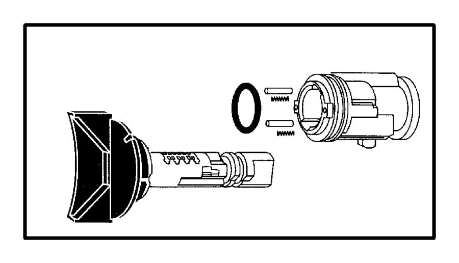 2002 Dodge Ram 1500 Cylinder. Ignition lock. Ingition