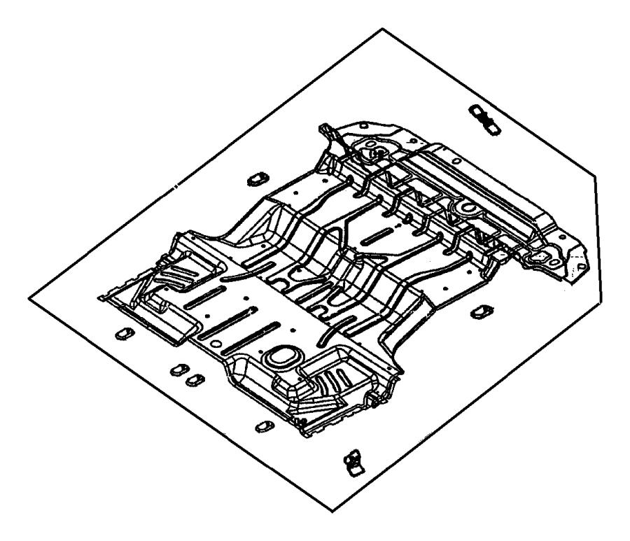 1998 Dodge Durango Pan. Rear floor. Trim, front