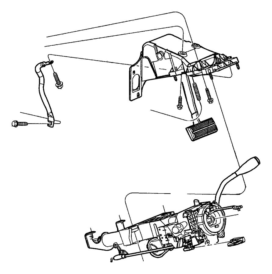 2002 Dodge Dakota Shroud. Steering column. Automatic