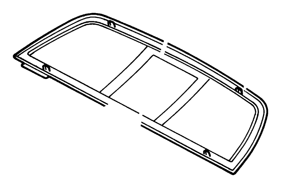 2000 Dodge Dakota Glass. Backlite. Sliding. Up to 11/11/02