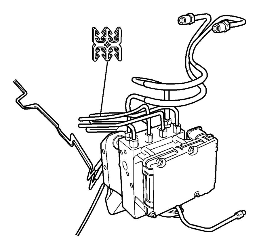 Chrysler Voyager Tube. Junction block to valve. Right