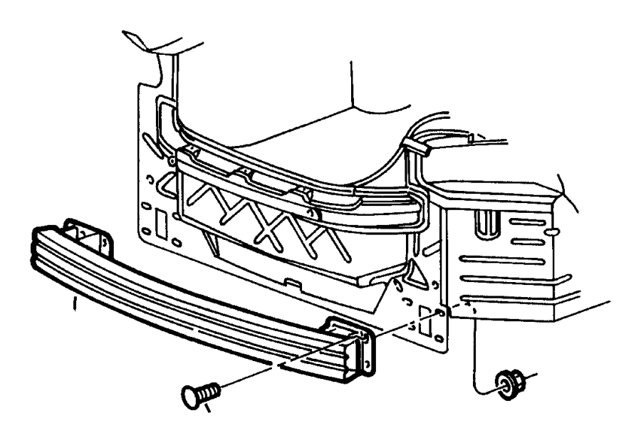 1999 Chrysler Concorde Reinforcement. Fascia. Rear, mopar