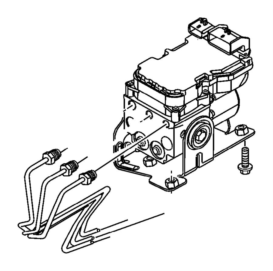 2002 Dodge Dakota Block. Brake line junction, brake line