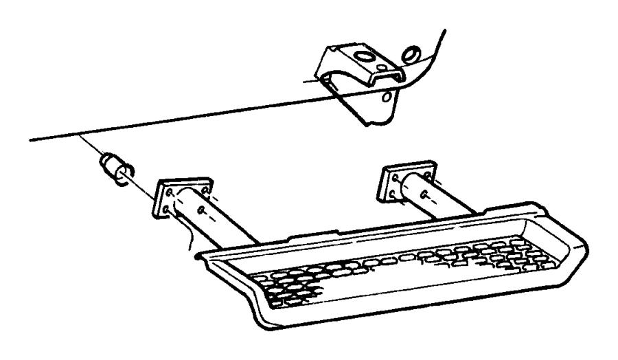 2010 Dodge Caliber Step pad. Side step. Left. [bodyside