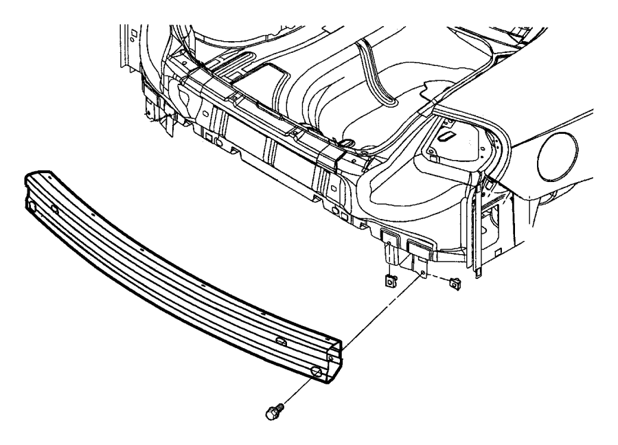 Chrysler Aspen U-nut. M8x1.25. Upper. Cross member