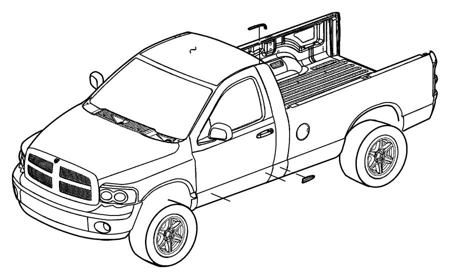 2005 Dodge Ram 1500 Molding. Cab. Trim, right