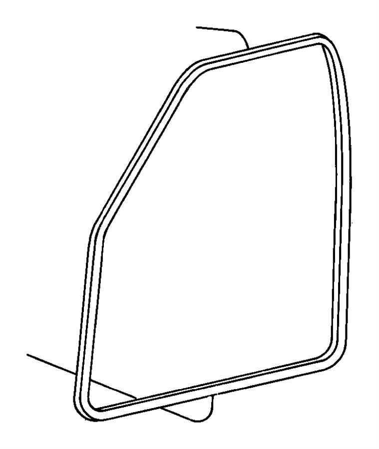 2000 Dodge Ram 1500 Weatherstrip. Front door. Left. Body