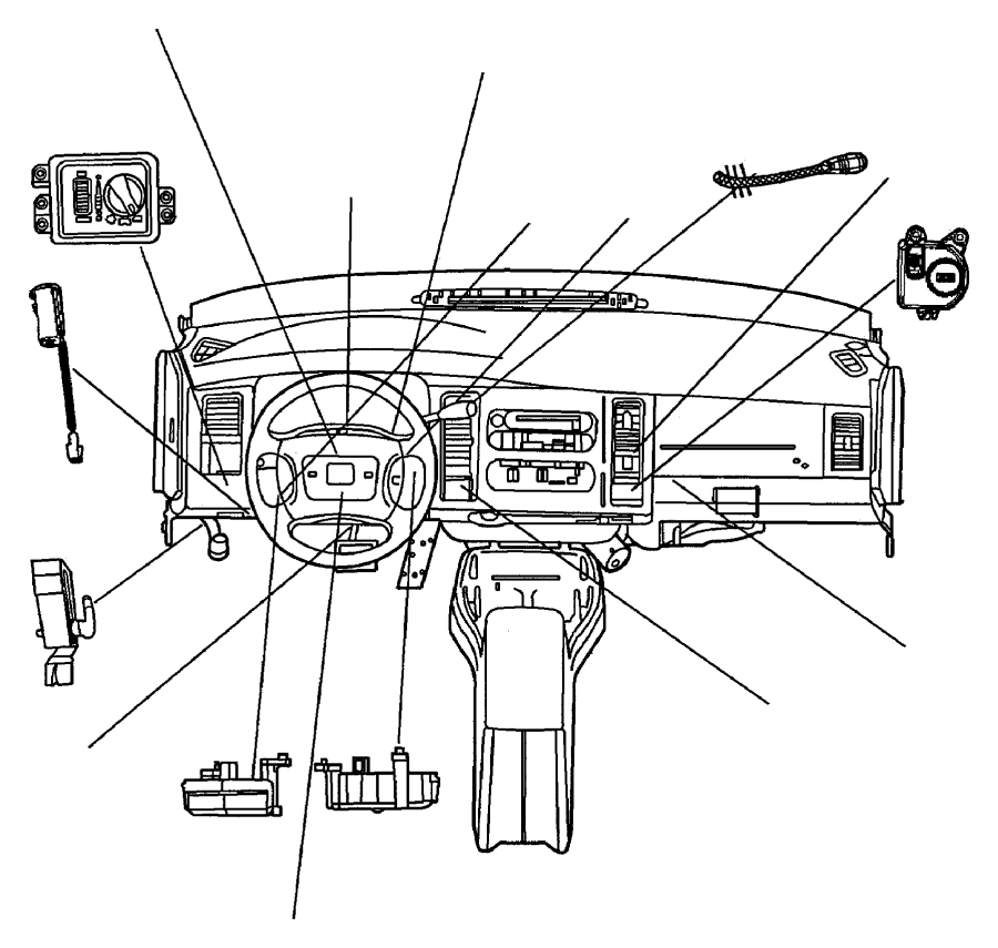 1998 Dodge Ram 3500 Switch. Clutch starter interlock