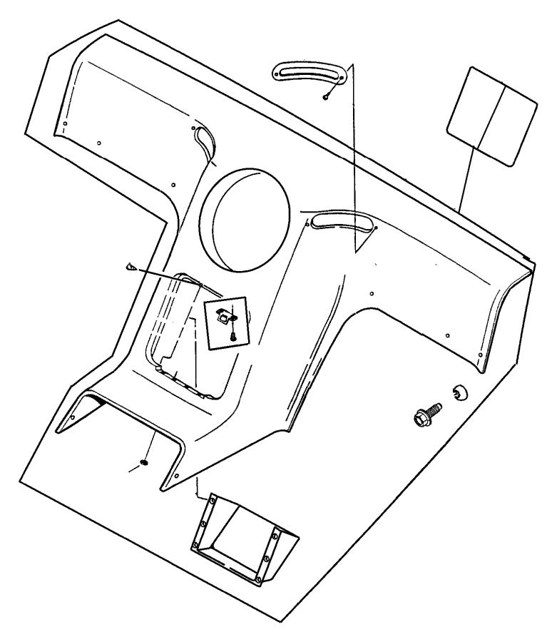 Chrysler Pacifica Panel. Bulkhead trim. Trim: [all trim