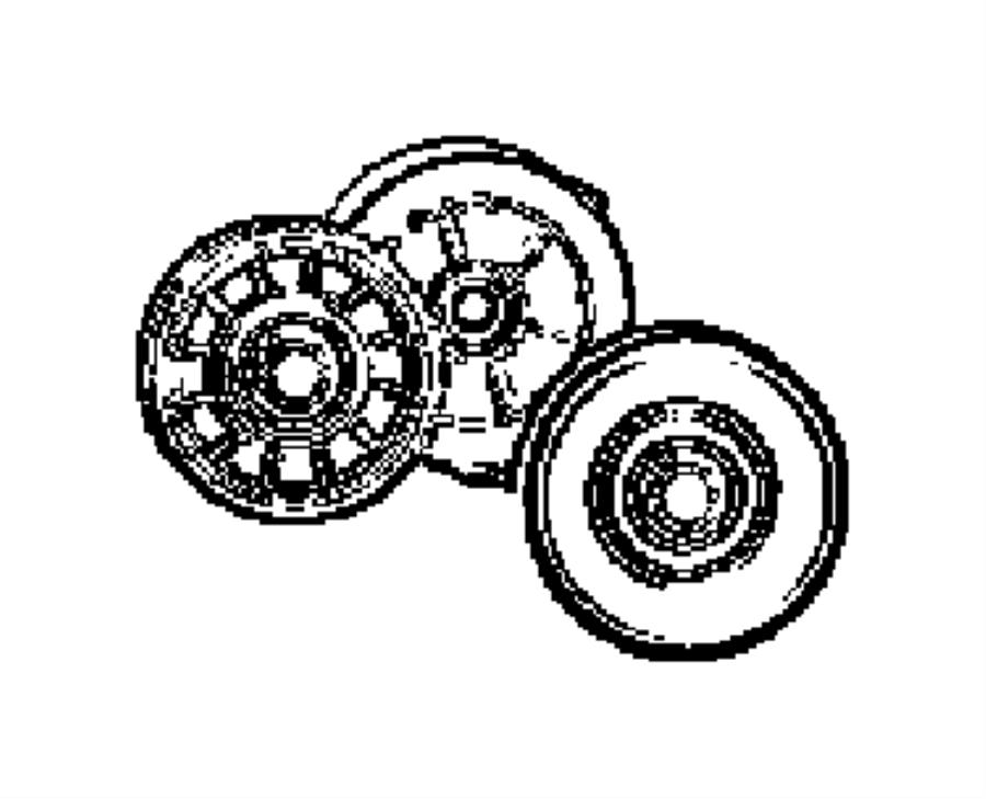 2009 Dodge Journey Tensioner. Belt. [4.7l v8 engine