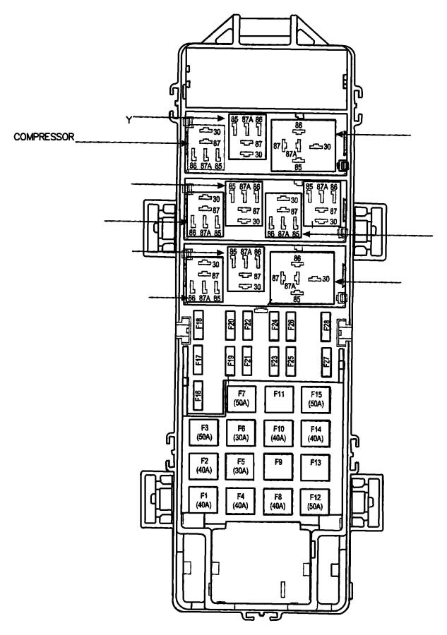 1998 Dodge Ram 2500 Fuse. J case. 40 amp. Export, mexico