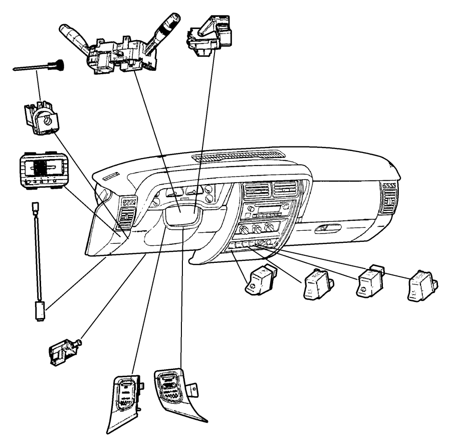 1998 Dodge Neon Switch. Headlamp. Trim: [all trim codes