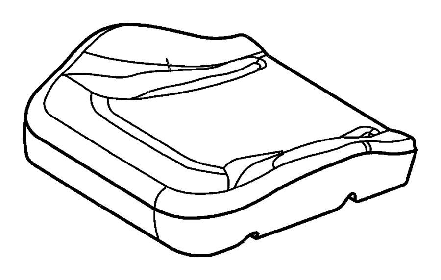 2007 Chrysler PT Cruiser Frame. Front seat cushion