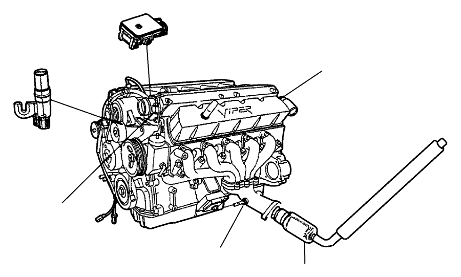 2001 Dodge Neon Sensor. Map. Emissions, engine, sensors