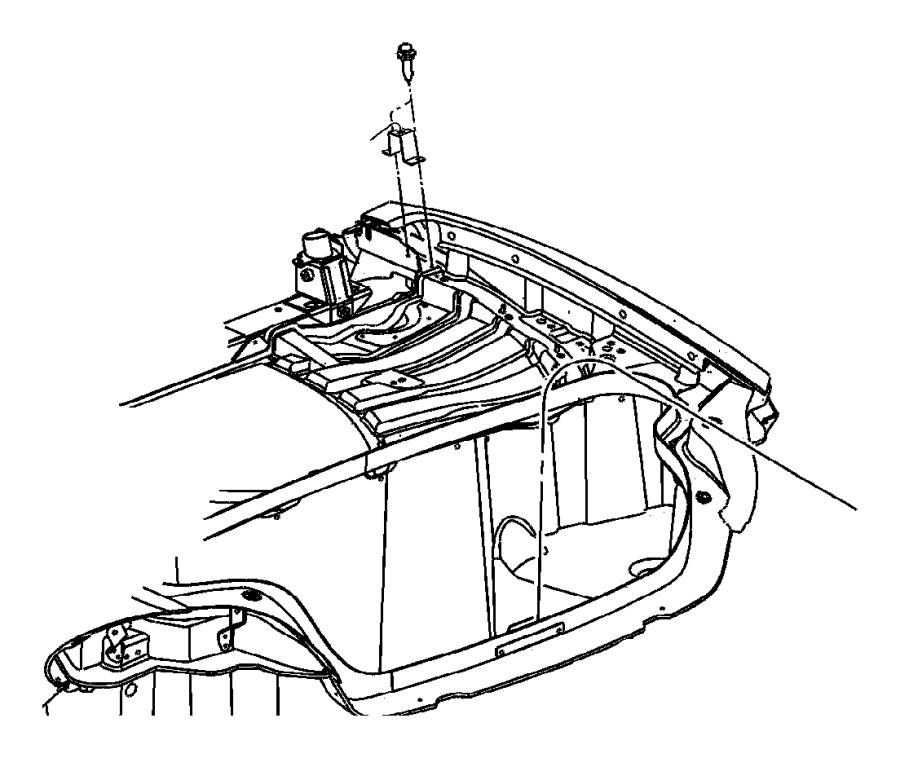 2009 Dodge Viper Bracket. Deck lid overslam. Body