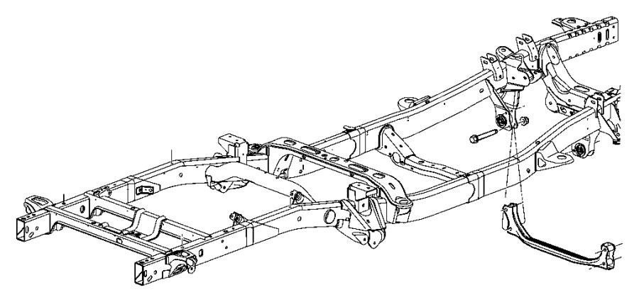 2003 Dodge Ram 3500 Frame. Chassis. Mopar, frames, body