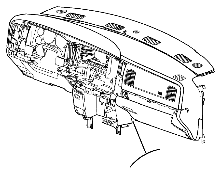 2004 Dodge Ram 2500 Cover. Instrument panel. Mopar