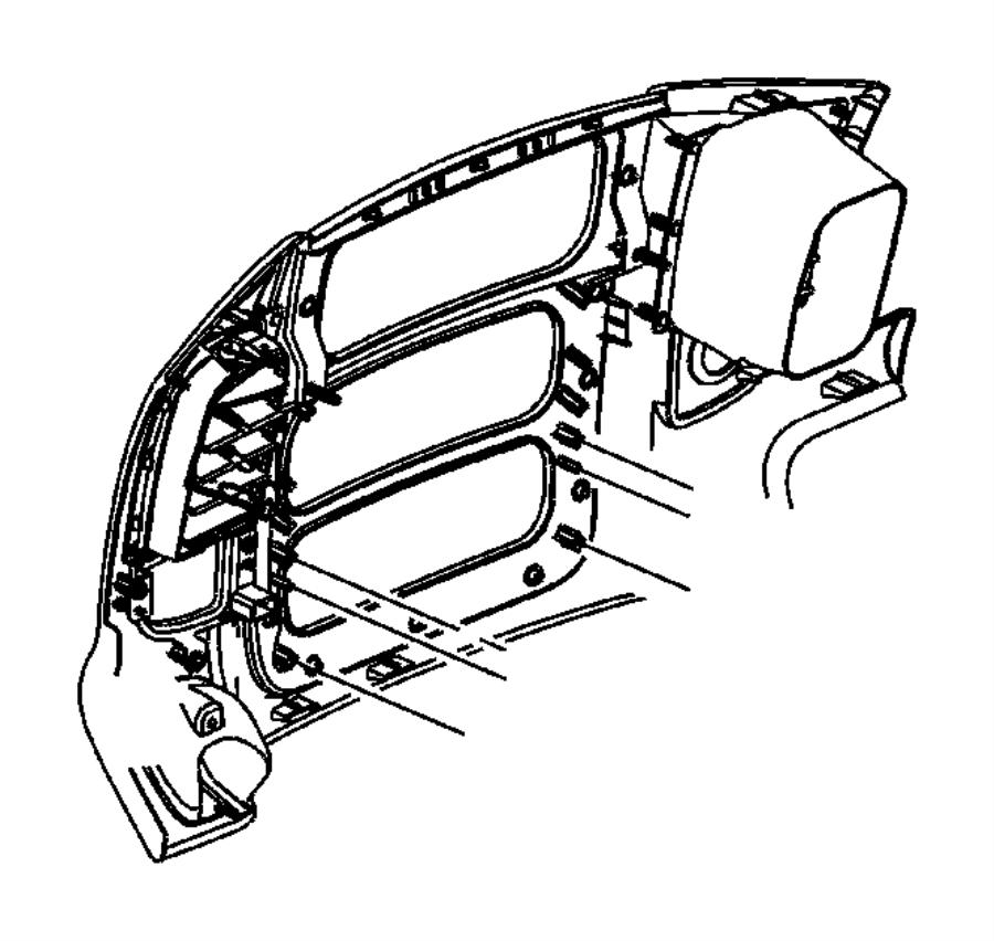 2004 Dodge Ram 2500 Bezel. Instrument panel. [dv], [dv