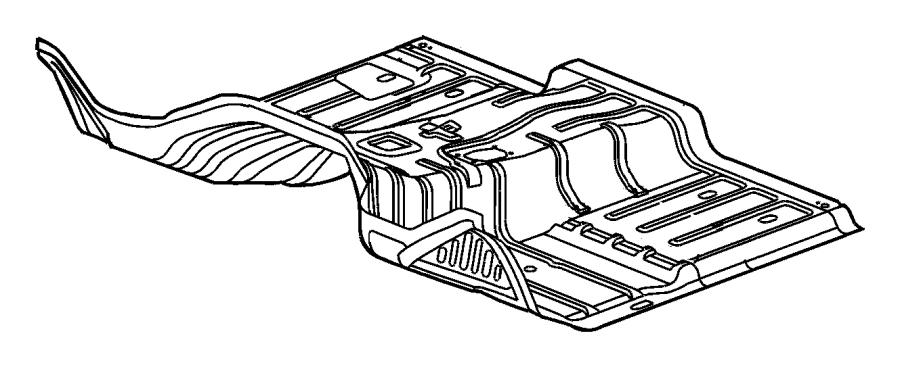 Dodge Ram 2500 Silencer. Floor pan front tunnel. Diesel