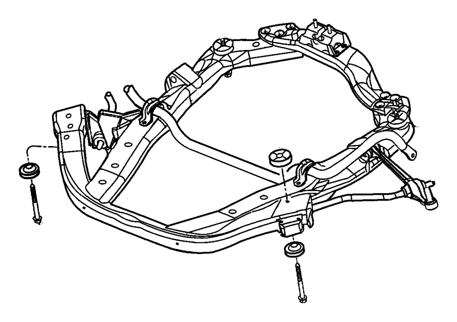 Chrysler Concorde Isolator. Cradle. Front, rear
