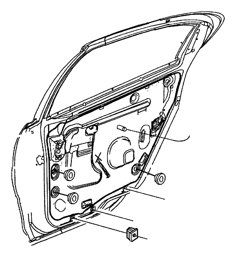 Jeep Commander Plug. Door trim panel. Module, attaching