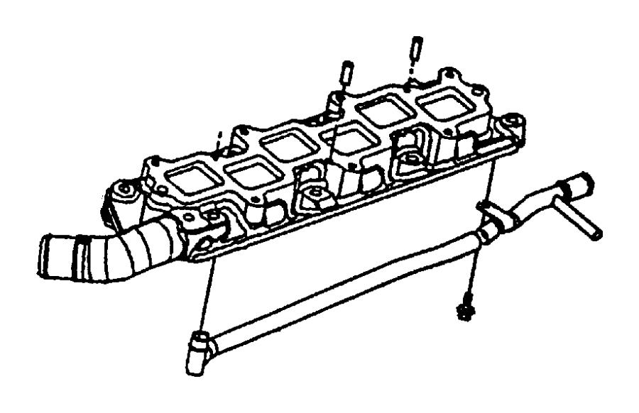 2001 Chrysler LHS Tube. Heater feed. W/double bracket