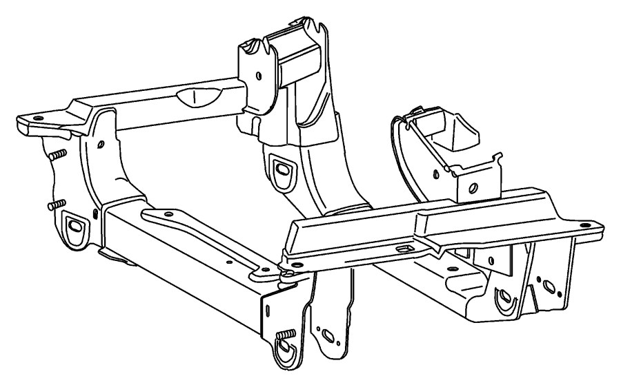 Jeep Liberty Cradle, crossmember. Front suspension