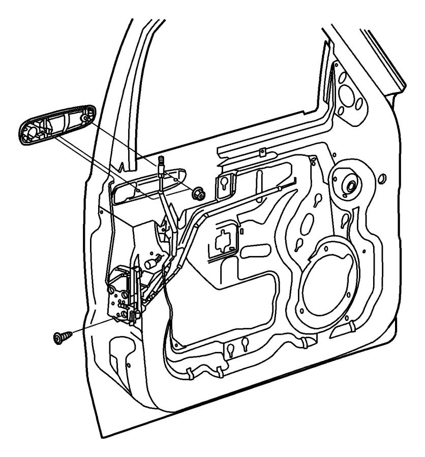 2007 Jeep Liberty Link. Exterior door handle. Right
