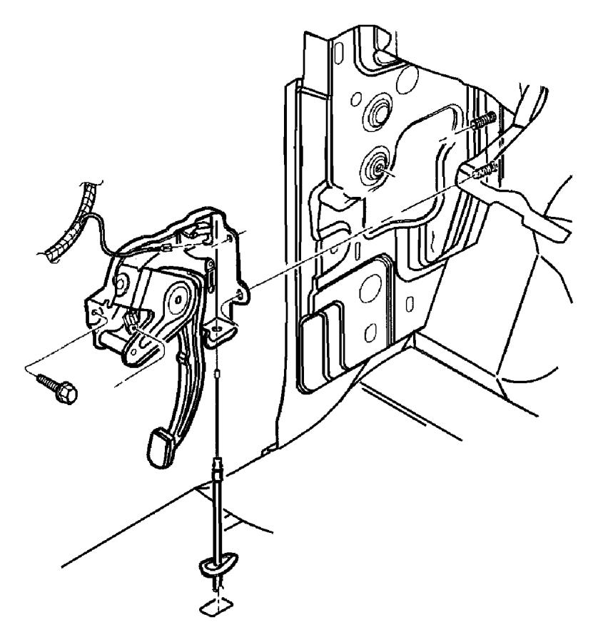 2010 Dodge Dakota Lever assembly. Parking brake. Items