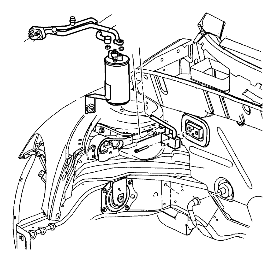 2004 Dodge Grand Caravan Cap. A/c charge valve, a/c check