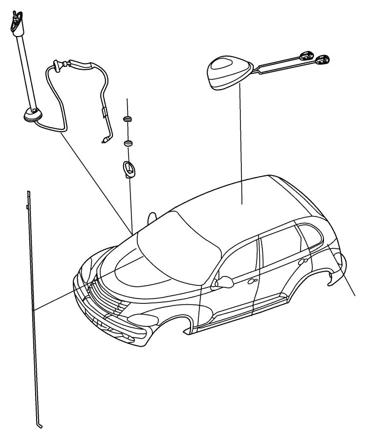Dodge Grand Caravan Cap nut. Antenna. Export. [antenna