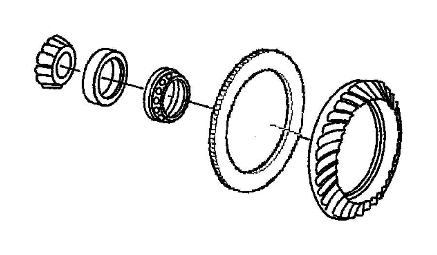 2011 Chrysler 300 Tone ring. Sensor. Axle, rear, ratio