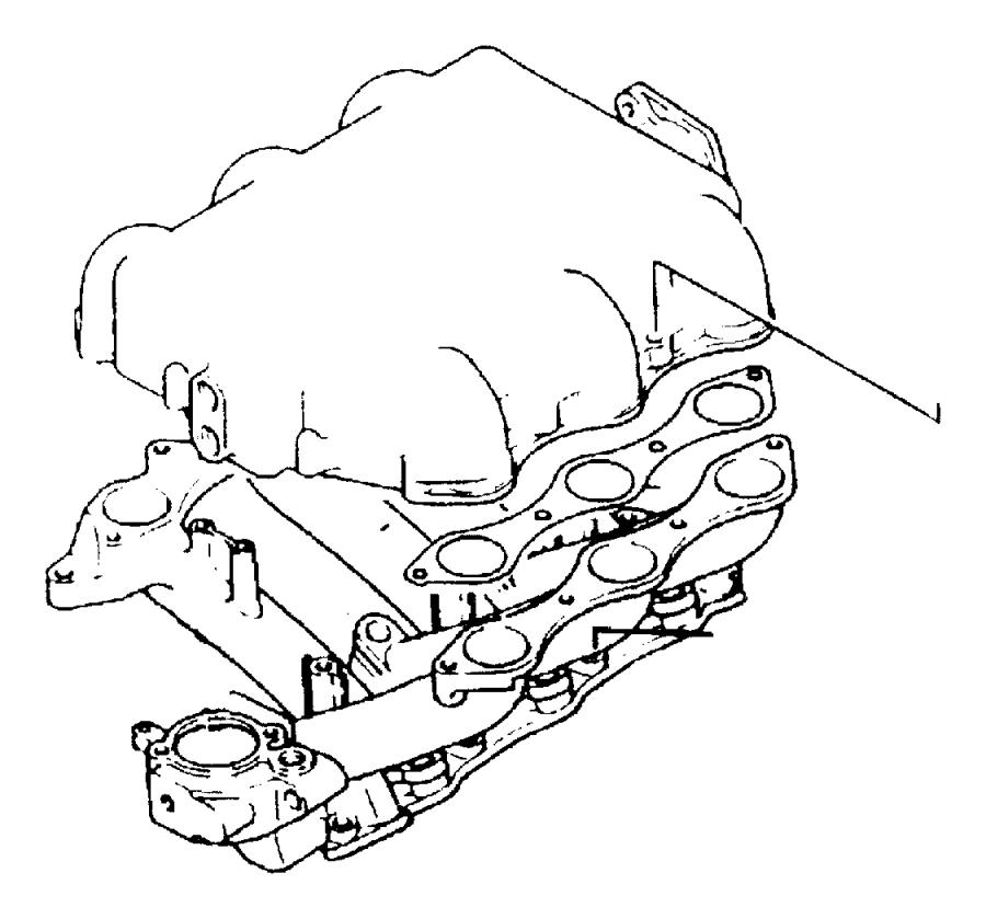 1995 Dodge Grand Caravan Gasket. Intake plenum. Engine