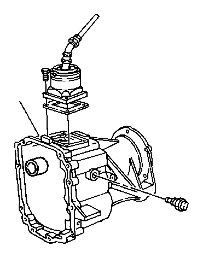 2002 Dodge Dakota Case. Transmission rear. Ddc, extension